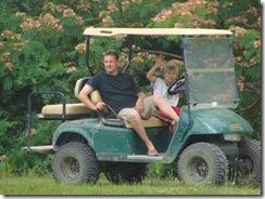 Blake and Jeff Golfcart