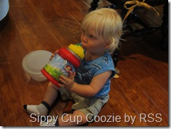 Reed drinking with coozie invention